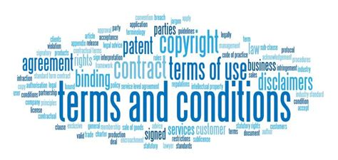 Glance At A Standard Terms And Conditions Template Online