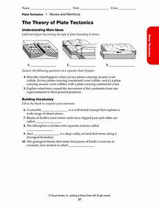 Bestseller  The Theory Of Plate Tectonics Worksheet