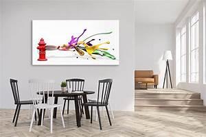 Tableau Salon Design : o poser un tableau grand format ~ Teatrodelosmanantiales.com Idées de Décoration