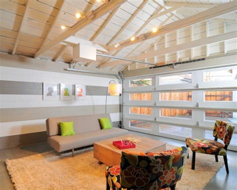 converted garage 10 garage conversion ideas to improve your home paint ceiling garage doors and white paints