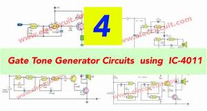 4 Gate Tone Generator Circuits Using Ic