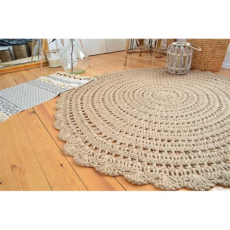 tapis rond beige idees de decoration interieure french