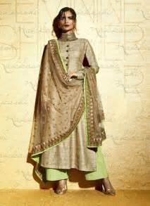 designer suits beige and pista embroidered designer suit