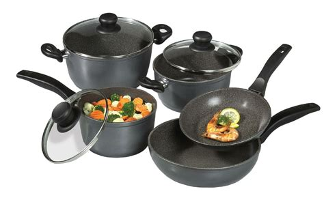 cookware stoneline stone non stick nonstick pan piece purpose induction frying stove pans cooking ceramic brand pfoa coating types different