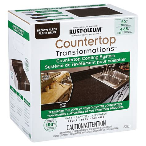 countertop coating system rust oleum countertop coating system brown 283856 ace