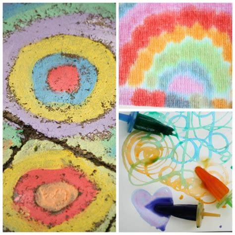 25 awesome projects for toddlers and preschoolers 707 | chalk art ice art and drip art for toddlers