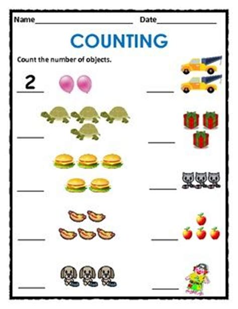 Math Practice Counting 1 To 10 (packet)  32 Pages, Including Cover And List Of Featured