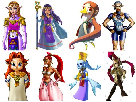 My Favorite Zelda Characters By Shantae4smash On Deviantart