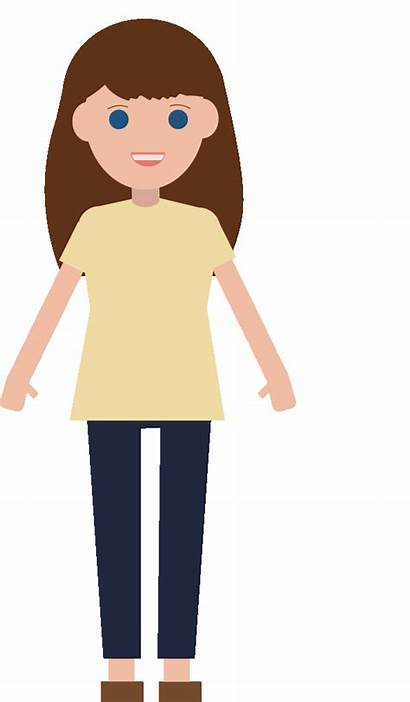 Mom Clipart Animation Brown Transparent Hair Clipartmag