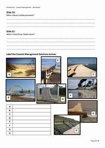 Coastal Management Powerpoint Worksheet