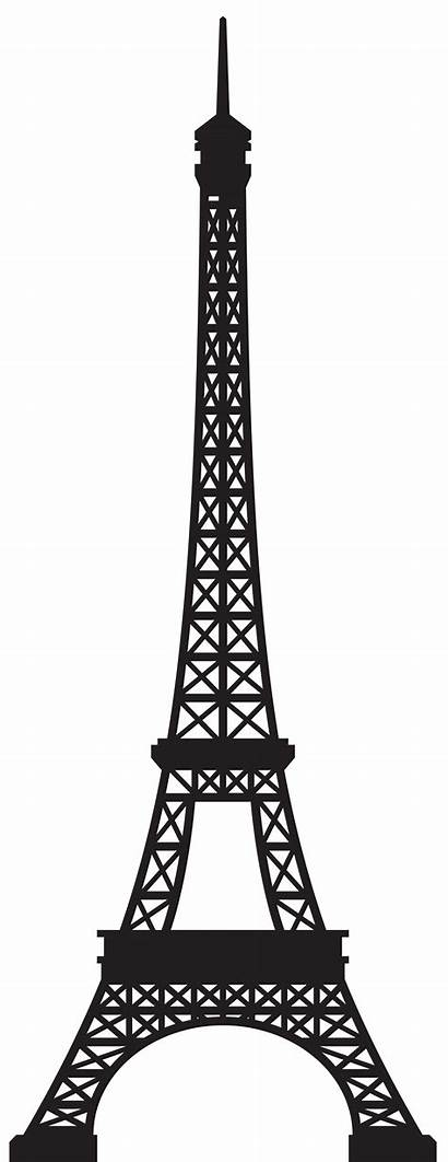 Tower Eiffel Clip Clipart Silhouette Eifel