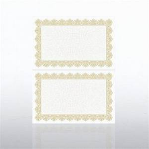 certificate paper scallop half size gold at With half page certificate template