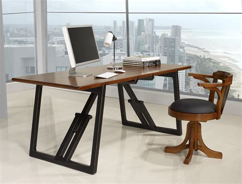 bureau merisier table de bureau en merisier massif de ligne contemporaine