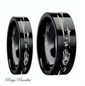nerdy wedding rings wars couples wedding bands wars wedding by ringsparadise