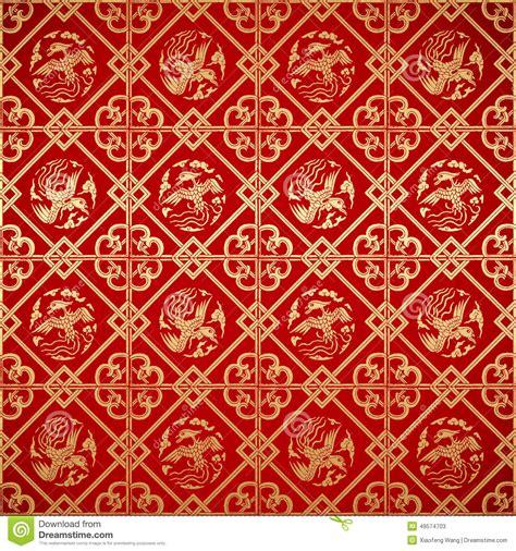papier peint chinois sans couture de damass 233 de vintage