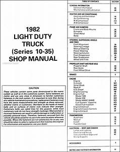 1982 Gmc Truck Shop Manual Sierra Van Jimmy Suburban Vandura 1500 2500 3500