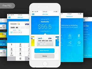 Free psd mobile bank payment app payment app on behance for Facebook app template psd