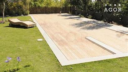 Disappearing Pool Pools Floor Covers Deck Movable