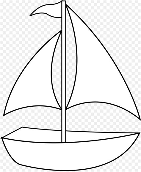 Simple Boat by Clip Transportation Black And White Drawing Clip