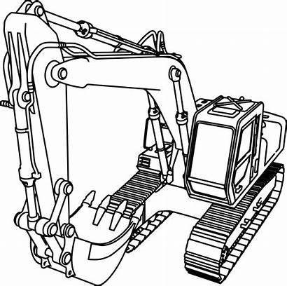 Bulldozer Coloring Clipart Pages Construction Equipment Webstockreview