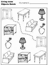 Coloring Living Empty Printables Template Hidden Printable Furniture Modern Sheet Sketch Adult Disney Object sketch template