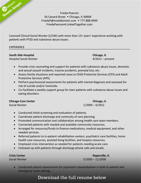 Social Networking Experience Resume by How To Write A Social Worker Resume Exles Included