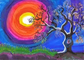 art by angela ungren southern pumpkin moon