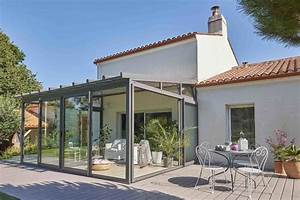 Veranda Verriere : v randa architekt avec toiture d bordante sans ch neau ~ Melissatoandfro.com Idées de Décoration