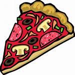Pizza Slice Mushroom Clip Pepperoni Svg Clipart