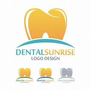 Dental sunrise logos vector material 01 - Vector Logo free ...
