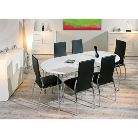 fly table de cuisine table de cuisine moderne ovalo en laqué blanc pas cher