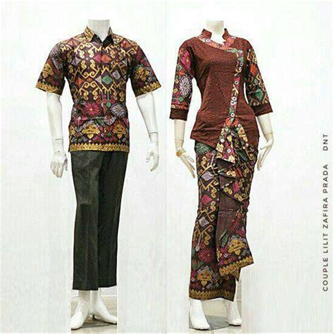 jual baju batik couple kebaya sarimbit model anita seragam pesta hijab modern kutubaru murah
