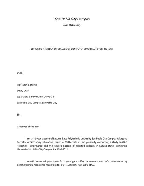 Request letter for thesis adviser