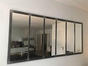 Miroir Effet Verrière : miroir notos 200 cm art industriel ~ Teatrodelosmanantiales.com Idées de Décoration