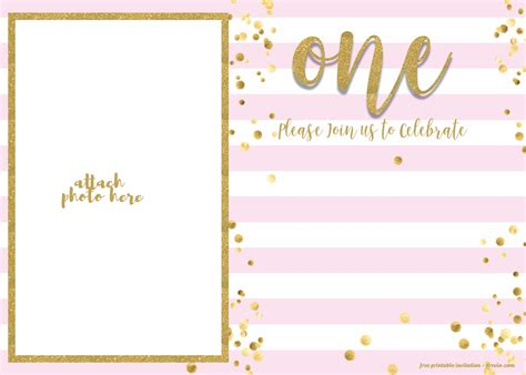 st birthday invitations template  girl bagvania