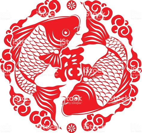 new year symbol new year fish symbol stock vector more images of decoration 526539500 istock