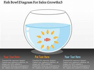 Fish Bowl Diagram For Sales Growth Flat Powerpoint Design