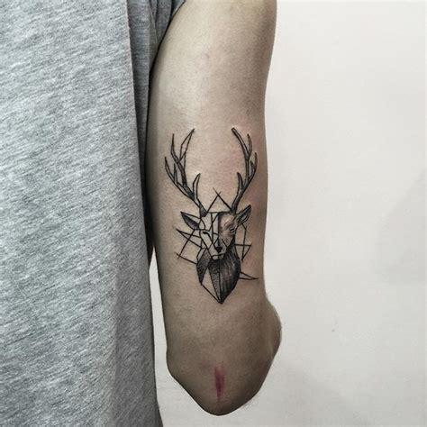 deer geometric tattoo tattoo tattoos compass tattoo