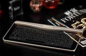 Designer Keyboard Bastron Glass Keyboard has no physical keys