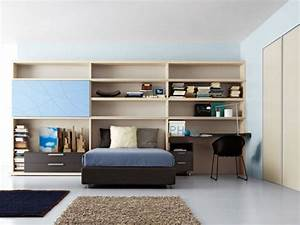 Bright and ergonomic furniture for modern teen room by for Teens room furniture