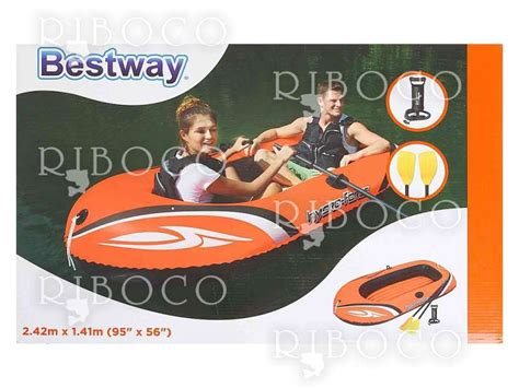 Inflatable Pool Boat With Oars by Inflatable Boat Complete With Oars And Pump Bestway 61102