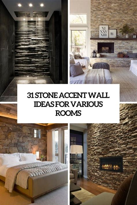 stone accent wall ideas   rooms digsdigs