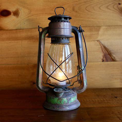 Authentic Old Lantern Lamp   Rustic Vintage Lighting