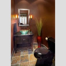 Glowing Teal Vessel  Contemporary  Powder Room Boise