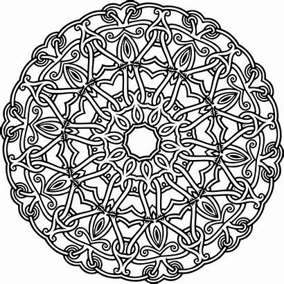 Geometric Coloring Pages Abstract Adult Interlocking Mandala