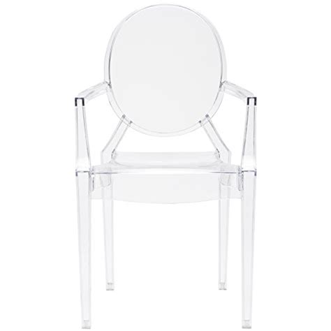 poly and bark louis ghost style arm chair clear furniture