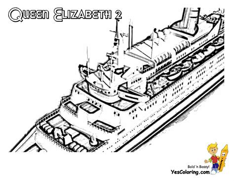 Queen Elizabeth 2 Free Colouring Pages