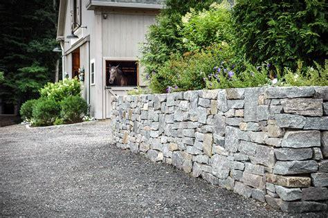 and rock walls