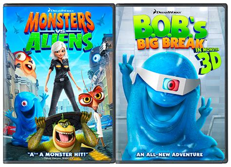 Monsters Vs. Aliens And Bob's Big Break Dvd Giveaway