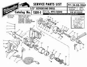 Buy Milwaukee 1201 2 U0026quot  Reversing Replacement Tool Parts